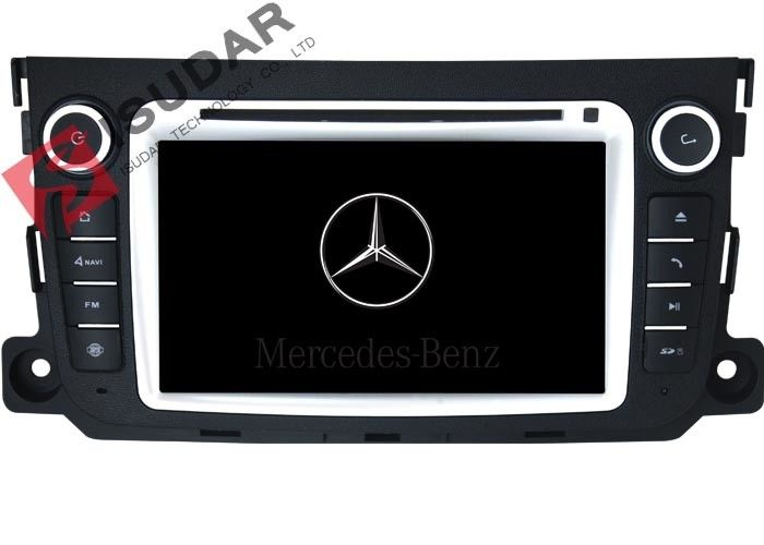 Multi Point Touch Screen Mercedes Benz Car DVD Player For Smart Fortwo Navigation System
