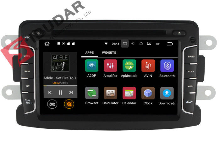 Built In GPS Android Auto Car Stereo Android Auto Car Deck For Dacia / Duster / Renault