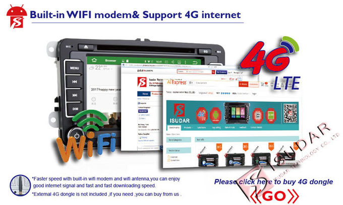 van de Tunervolkswagen van 4G Mirrorlink DAB+ het Touche screen Radiovw Media Player met WIFI